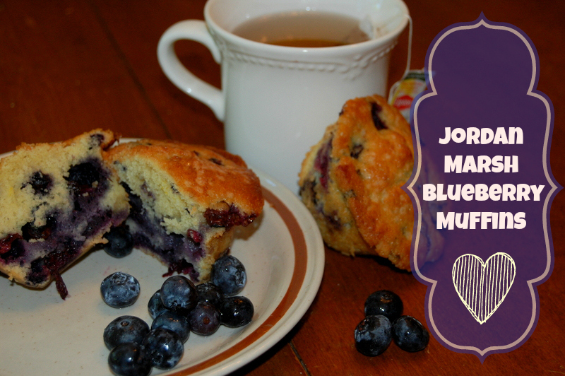 A New England classic! Jordan Marsh Blueberry Muffins