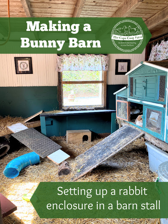Making a Bunny Barn - setting up a rabbit enclosure in barn stall