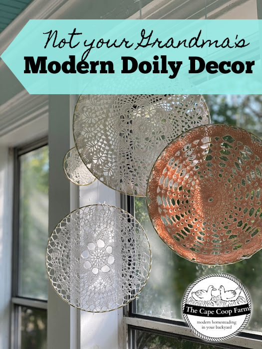 Don't toss those old doilies in the basement or attic - bring these old fashioned decor items into the modern world